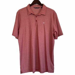 TRAVIS MATHEW Red Polo Golf Shirt